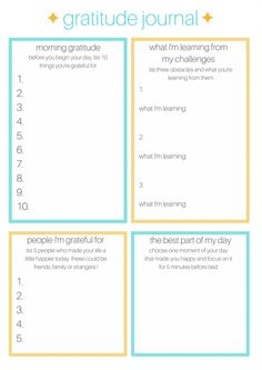Free Printable Gratitude Journal + Helpful Links | Zen & Spice