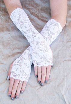 Long white lace bridal gloves Brides Wedding on Etsy, $19.24 CAD