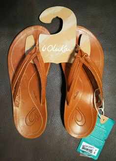 933c8d04ef87 Olukai U I Women s Leather Sandals. Model 20245-FMFM Size 6