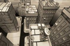 papercity overhead shot