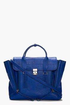 3.1 PHILLIP LIM Cobalt Leather Pashli Satchel