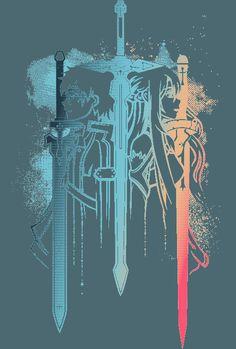 Kirito Sword, Kirito Asuna, Sword Art Online Kirito, Arte Online, Online Art, Good Anime Series, Sword Art Online Wallpaper, Slayer Anime, Otaku Anime