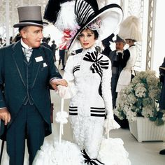 "Wilfrid Hyde-White as ""Colonel Pickering"" and Audrey Hepburn as ""Eliza Doolittle"" in a scene from ""My Fair Lady"", 1964 (photo credit) Bob Willoughby) My Fair Lady, Golden Age Of Hollywood, Classic Hollywood, Old Hollywood, Eliza Doolittle, Julie Andrews, Gossip Girl, Orange Cinema, Film Musical"