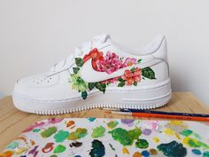 SNEAKERS You are in the right place about colorful fila shoes outfit Here we offer you th Mode Shoes, Women's Shoes, Shoes Sneakers, Custom Painted Shoes, Custom Shoes, Painted Sneakers, Painted Clothes, Shoe Art, Custom Sneakers