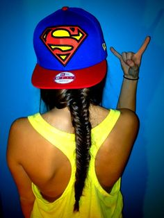 {{ love this snapback and this fish braid }}