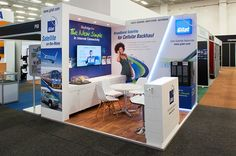Full custom 3m x 3m corner booth for Gilat at AfricaCom2013