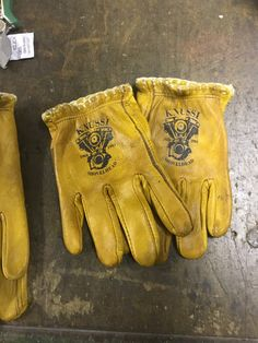 Lasered motorcycle gloves
