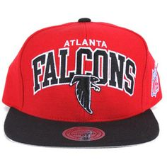 e342be73 Atlanta Falcons Snapbacks Mitchell Ness NFL Hats Arch Caps Red Black ❤  liked on Polyvore featuring
