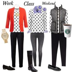 """""""work-class-weekend"""" by lydia-brewster on Polyvore polka dot"""