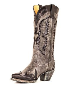 An edgy boot with sequin accents for a feminine touch! | http://www.countryoutfitter.com/products/27502-womens-grey-black-sequin-eagle-boot-r1003 #cowgirlboots