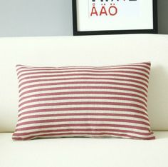 12x20 linen red stripe style decorative waist  by sunnybeauty, $17.20