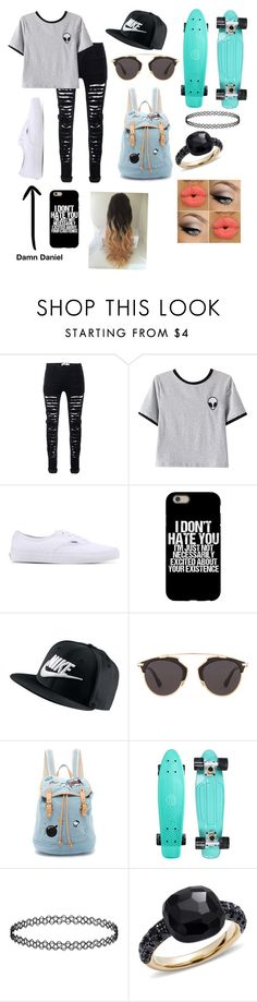 """People call it wanna be but I think it's called being free"" by xxlukespinguin24xx ❤ liked on Polyvore featuring beauty, Chicnova Fashion, Vans, NIKE, Christian Dior, Paul & Joe Sister and Pomellato"