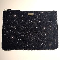 Kate Spade Sequin Gia Kate Spade Sequin Gia clutch! Really fun bag! Only used once, no signs of use. No scratches to hardware or missing sequins. kate spade Bags Clutches & Wristlets