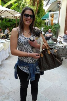 This is Samantha, the beautiful boss of our #SPA, with Gea, her #doggie! ♥ #dog #puppy