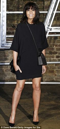 Pins on parade: Claudia Winkleman flaunted her legs in a seriously chic LBD. Victoria Pendleton, Claudia Winkleman, Tv Girls, Robin Wright, Milan Fashion, Beautiful Outfits, Catwalk, Stella Mccartney, Mini Skirts
