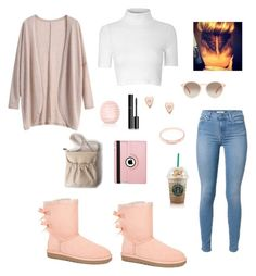 """""""Coldddd 🌨"""" by jay-christina ❤ liked on Polyvore featuring UGG Australia, FOSSIL, Maria Black, Glamorous, Topshop, Chanel, Natico and GlassesUSA"""