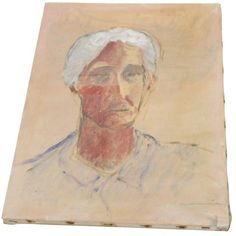 Image of Ghosted Grandma Oil Portrait