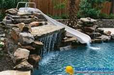 Find Home improvement, remodeling, renovation and construction contractors, ratings - Hire a Contractor Landscaping Work, Luxury Landscaping, Landscaping Company, Swimming Pool Slides, Swimming Pools, Construction Contractors, Water Slides, Pool Ideas, Backyard Ideas