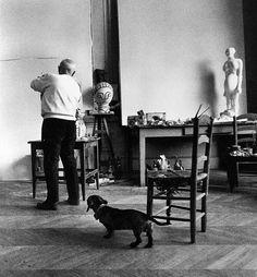 David Douglas Duncan  -   Picasso and Lump. 1957