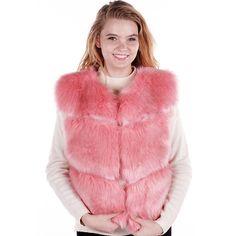 Faux Fur Vest with Pocket