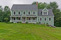 Farmers Porch On Colonial Home   Sunny and fresh colonial! Better than new, well-constructed home with ...