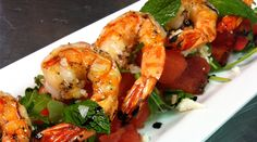 Watermelon Salad with Grilled Shrimp