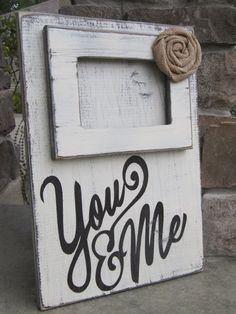 Repurposed Wood Sign and picture frame, ,Rustic Wood sign
