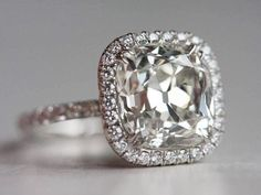 square cut diamond engagement ring