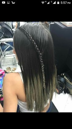Gym Hairstyles, Straight Hairstyles, Braided Hairstyles, Braid Styles, Short Hair Styles, Dark Balayage, Beautiful Braids, Hair Highlights, Nicki Minaj