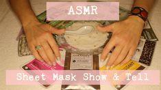 ASMR ~ Sheet Mask Show & Tell/ Tapping ~ Whispered