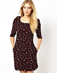 Imagen 1 de Vestido recto con estampado de leopardo de Closet