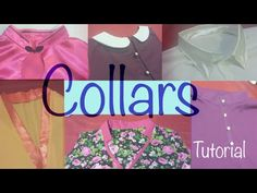 in this video you will learn: Chinesse collar half chinesse collar Mandarin collar (wide binding) Shirt collar Peter pan collar N. Chudidhar Neck Designs, Kurti Neck Designs, Dress Neck Designs, Blouse Designs, Sleeve Designs, Kurta Patterns, Designer Blouse Patterns, Dress Patterns, Sewing Patterns