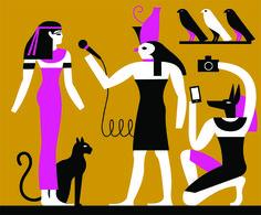 Olimpia Zagnoli - REPUBBLICA - An illustration for La Repubblica about the show-ification of History.