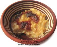 Imelletty perunalaatikko - Finnish sweetened potato casserole (traditional Christmas fare)