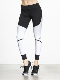 1beea3ce6022b Train Tight by ADIDAS BY STELLA MCCARTNEY in Black/White Tight Leggings,  Yoga