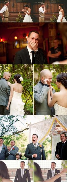 When these grooms saw their brides for the first time <3