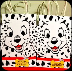 101 Dalmatian Party Gift Bags; Puppy Party; Printable; Non-Personalized Please COPY and PASTE this information in the notes to seller - Name