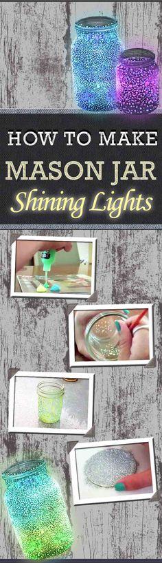 How to Make DIY Mason Jar Shining Lights