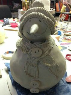 Ceramics Projects, Clay Projects, Clay Crafts, Paper Mache Clay, Clay Art, Pottery Sculpture, Pottery Art, Kids Clay, Christmas Clay