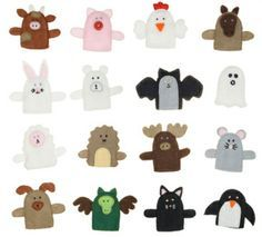 fingerpuppen aus filz selbst basteln textilunterricht pinterest puppet finger puppets and. Black Bedroom Furniture Sets. Home Design Ideas