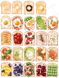 Quick And Schrieb Vegan Recipes Suggestions - Breakfast, Mittagessen And Dinners For The Sozusagen Paced Vegan - My Website Cute Food Art, Cute Food Drawings, Food Sketch, Food Stickers, Watercolor Food, Buch Design, Aesthetic Food, Menu Design, Food Illustrations