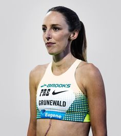 Like any professional runner, Grunewald is competitive and fierce down the stretch. But a huge obstacle sets her apart: She's battling cancer for the fourth time.