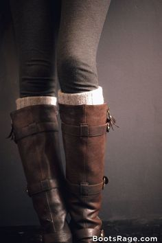 Brown Boots and Leggings - Women Boots And Booties