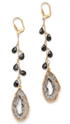 Dara Ettinger Yvette Earrings | agate pendulum