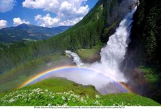 Pin for Later: 31 Unreal Travel Destinations in Europe You Didn't Realize You Could Visit Krimml This area has Austria's highest waterfall — and apparently some pretty rainbows, too. Places Around The World, Travel Around The World, Around The Worlds, Beautiful Waterfalls, Beautiful Landscapes, Bad Gastein, Zell Am See, Cities, All Nature