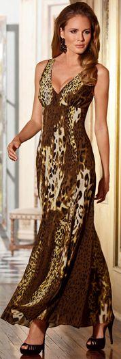 Gold Animal Maxi Dress