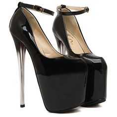 Sexy Patent Leather and Crystal Heel Design Women's Pumps