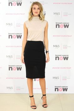 turtleneck top and pencil skirt