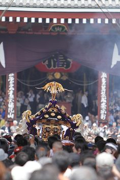 Sanja Matsuri, Sanja Festival, is one of the three great Shinto festivals in Tokyo. #japan