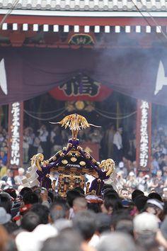 Sanja Matsuri, Sanja Festival, is one of the three great Shinto festivals in Tokyo. #japan